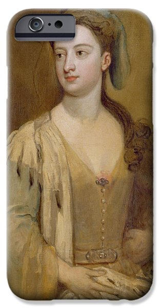 Orientalists Photographs iPhone Cases - A Woman, Called Lady Mary Wortley Montagu, C.1715-20 Oil On Canvas iPhone Case by Sir Godfrey Kneller