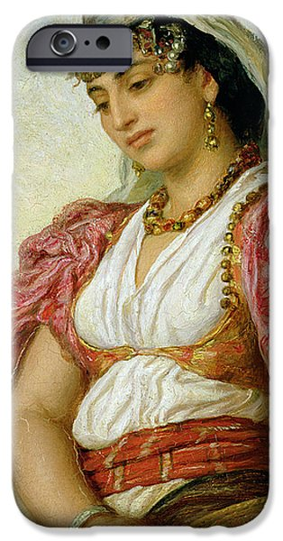 1871 iPhone Cases - A Woman from Algiers iPhone Case by John Evan Hodgson