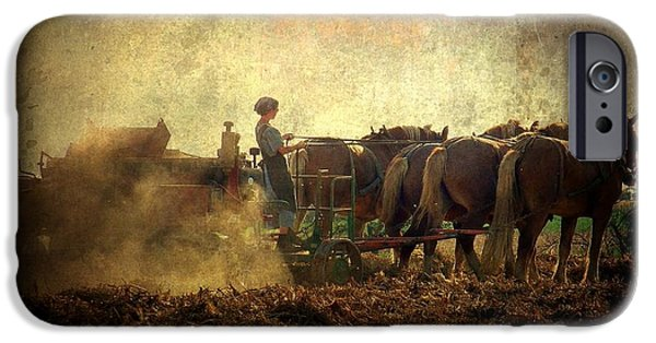 Amish iPhone Cases - A Womans Work Is Never Done iPhone Case by Trish Tritz