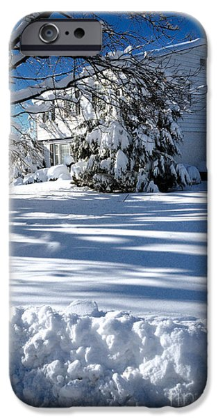 Winter Storm iPhone Cases - A World of White iPhone Case by Amy Cicconi
