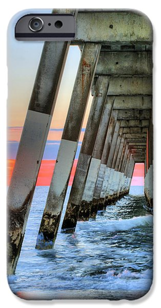 Topsail iPhone Cases - A Wrightsville Beach Morning iPhone Case by JC Findley