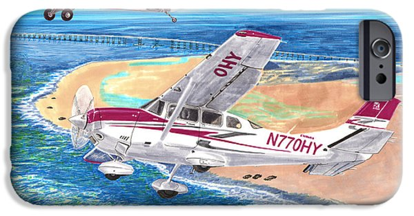 Husky iPhone Cases -  Cessna 206 and A1A Husky iPhone Case by Jack Pumphrey