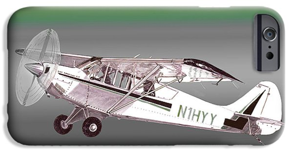 Husky Mixed Media iPhone Cases - A1A Husky Aviat Airplane iPhone Case by Jack Pumphrey
