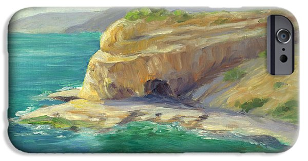 Abalones iPhone Cases - Abalone Cove iPhone Case by Catherine Garneau