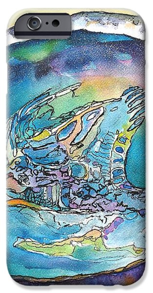 Abalone Shell Tropical Color iPhone Case by Carlin Blahnik