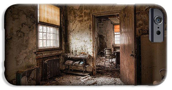 Abandoned Buildings iPhone Cases - Abandoned Asylum - Haunting Images - What once was iPhone Case by Gary Heller