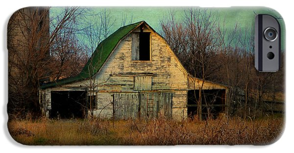 Old Barns iPhone Cases - Abandoned Barn iPhone Case by Deena Stoddard