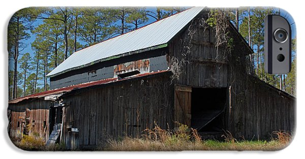 Old Barn Poster Photographs iPhone Cases - Abandoned Barn III iPhone Case by Suzanne Gaff
