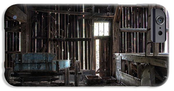 Eerie iPhone Cases - Abandoned Barn iPhone Case by Jeannette Hunt