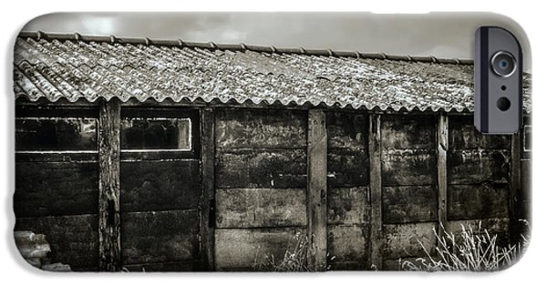 Old Barns iPhone Cases - Abandoned Barn iPhone Case by Wim Lanclus