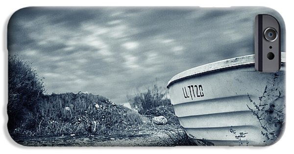 Abandoned iPhone Cases - Abandoned Boat iPhone Case by Stylianos Kleanthous
