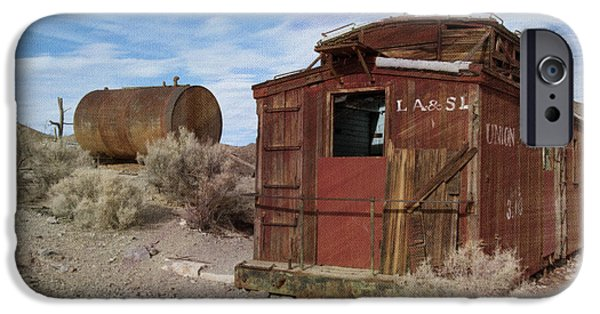 Train Town iPhone Cases - Abandoned Caboose iPhone Case by Juli Scalzi