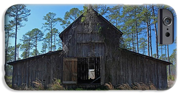 Barn Poster Photographs iPhone Cases - Abandoned Carolina Barn II iPhone Case by Suzanne Gaff