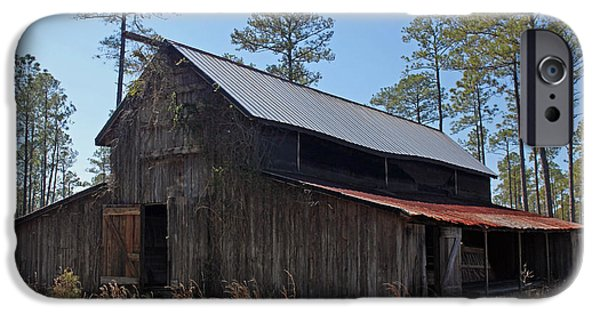 Old Barn Poster Photographs iPhone Cases - Abandoned Carolina Barn iPhone Case by Suzanne Gaff