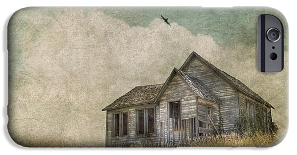 Prairie Landscape iPhone Cases - Abandoned iPhone Case by Juli Scalzi