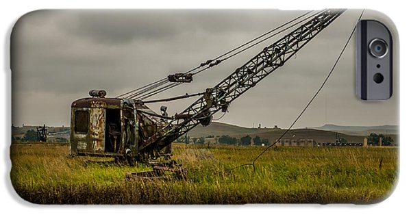Construction Equipment iPhone Cases - Abandoned Drag Line iPhone Case by Paul Freidlund