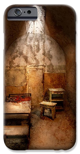 Police Art iPhone Cases - Abandoned - Eastern State Penitentiary - Life sentence iPhone Case by Mike Savad