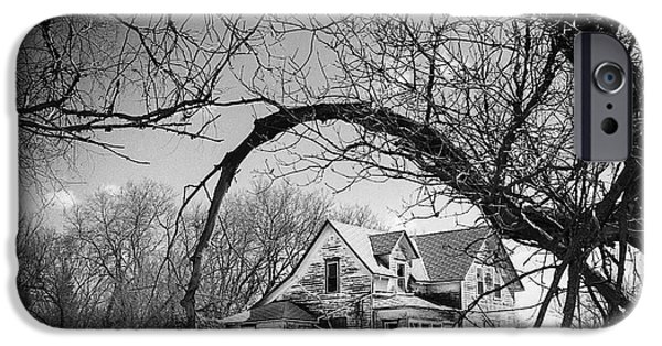The White House Photographs iPhone Cases - Abandoned Farm House iPhone Case by Donald  Erickson