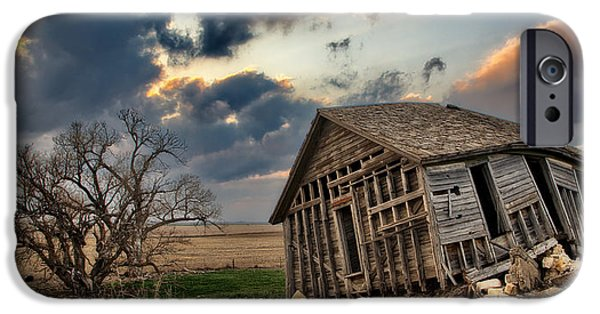 Despair iPhone Cases - Abandoned Farmstead 2 iPhone Case by Thomas Zimmerman