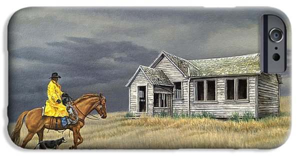 Old Houses iPhone Cases - Abandoned Homestead-Eastern Idaho iPhone Case by Paul Krapf