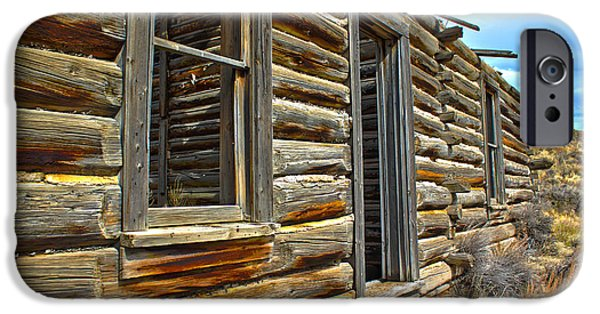 Cabin Window iPhone Cases - Abandoned Homestead iPhone Case by Shane Bechler