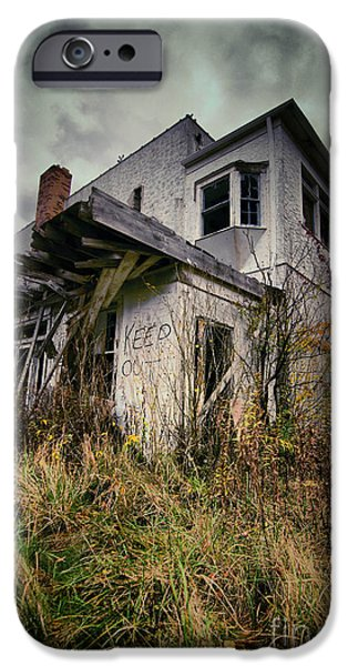 Condemned iPhone Cases - Abandoned Hotel HDR iPhone Case by Amy Cicconi