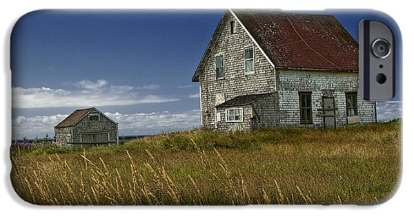 Boarded Up iPhone Cases - Abandoned House in a field on a Prince Edward Island Canada iPhone Case by Randall Nyhof