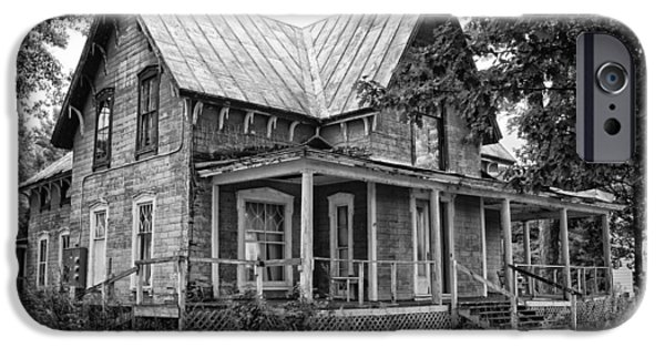White House iPhone Cases - Abandoned House iPhone Case by Scott Lapp
