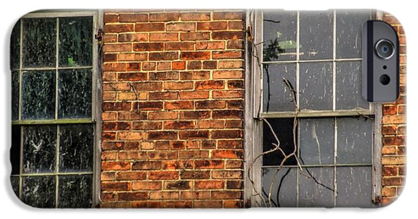 Forest iPhone Cases - Abandoned House Windows 05 iPhone Case by J M Lister