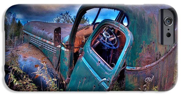 Rural Maine Roads iPhone Cases - Abandoned II iPhone Case by Alana Ranney