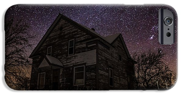 Abandoned House iPhone Cases - Abandoned in the cold iPhone Case by Aaron J Groen