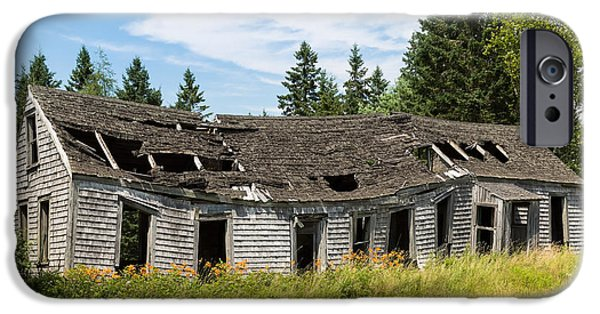 Rural Maine Roads iPhone Cases - Abandoned iPhone Case by John Bailey