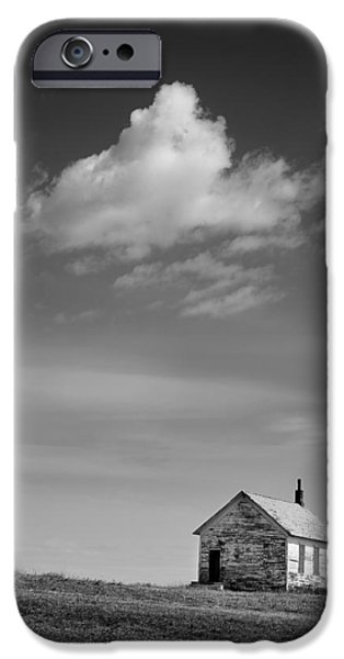 Rural Schools iPhone Cases - Abandoned One-room Country School Building iPhone Case by Donald  Erickson
