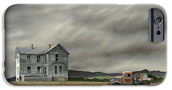 Old Houses iPhone Cases - Abandoned   iPhone Case by Paul Krapf