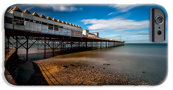 Pier Digital Art iPhone Cases - Abandoned Pier iPhone Case by Adrian Evans