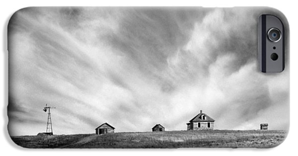 The White House Photographs iPhone Cases - Abandoned Ranch Buildings iPhone Case by Donald  Erickson