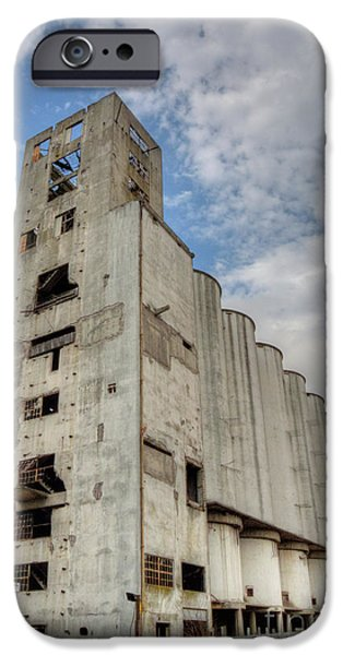 Eerie iPhone Cases - Abandoned Riverside Factory iPhone Case by Deborah Smolinske