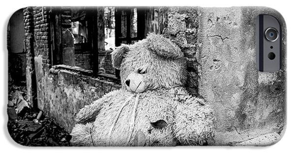 Abandonment iPhone Cases - Abandoned Teddy Bear II iPhone Case by Dean Harte