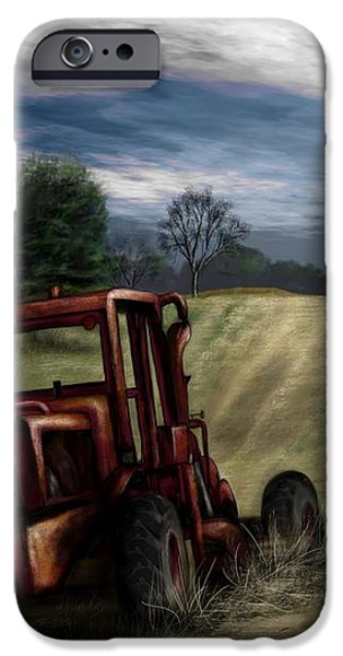 Abandoned Tractor iPhone Case by Ron Grafe