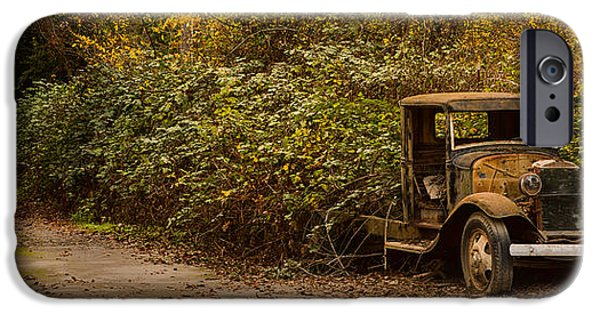 Old Cars iPhone Cases - Abandoned Truck iPhone Case by Bryant Coffey