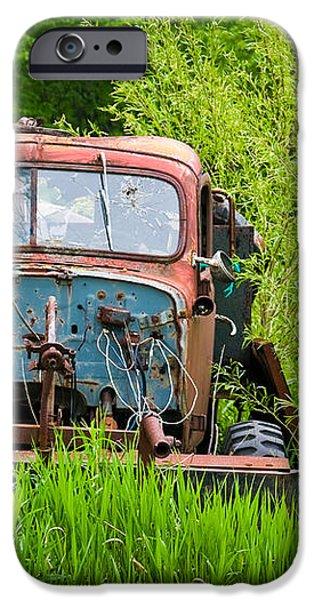 Abandoned Truck in Rural Michigan iPhone Case by Adam Romanowicz