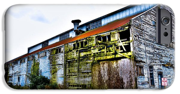 David iPhone Cases - Abandoned Warehouse on the Swinomish Channel - La Conner Washington iPhone Case by David Patterson