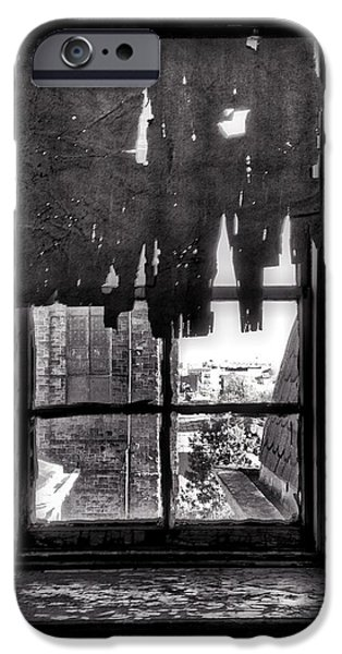 Harlem iPhone Cases - Abandoned Window iPhone Case by H James Hoff