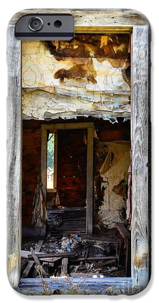 Torn iPhone Cases - Abandonment iPhone Case by Lauren Hunter