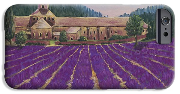 Florals Pastels iPhone Cases - Abbaye Notre-Dame de Senanque iPhone Case by Anastasiya Malakhova