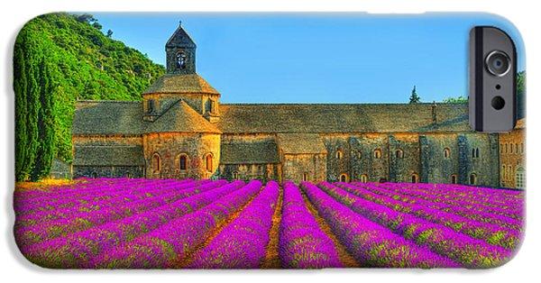Provence Photographs iPhone Cases - Abbaye Notre-Dame de Senanque iPhone Case by Midori Chan