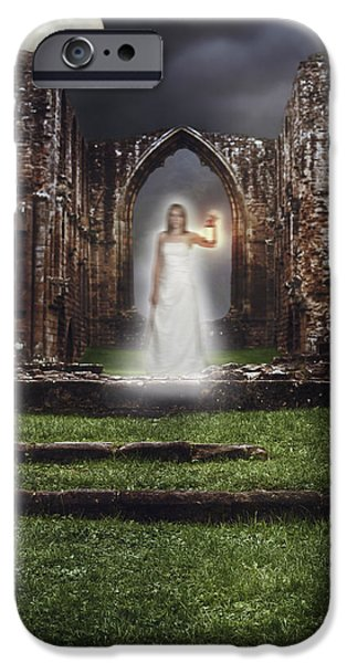 Abbey Ghost iPhone Case by Amanda And Christopher Elwell