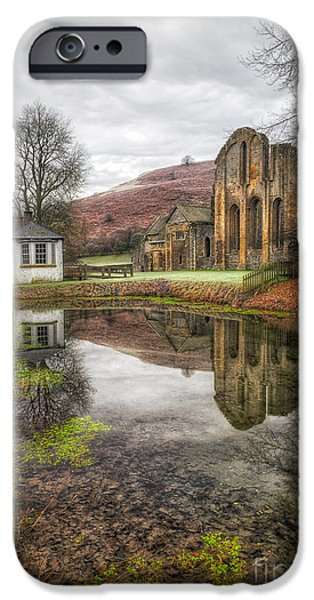 13th Century iPhone Cases - Abbey Reflection iPhone Case by Adrian Evans