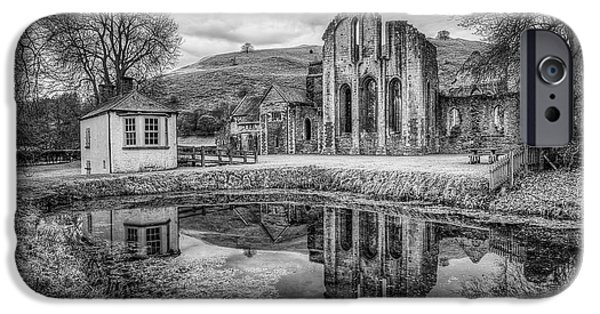 13th Century iPhone Cases - Abbey Reflections iPhone Case by Adrian Evans