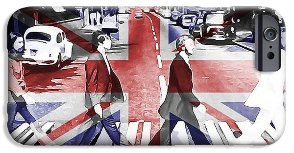 Beatles iPhone Cases - Abbey Road Union Jack iPhone Case by Dan Sproul